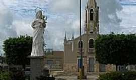 Nossa Senhora da Glória - Praça, Igreja e Imagem de N.Sra.da Glória em Nossa Senhora da Glória-SE-Foto:maxell10