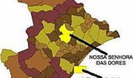 Nossa Senhora das Dores - Mapa de Localização - Nossa Senhora das Dores-SE