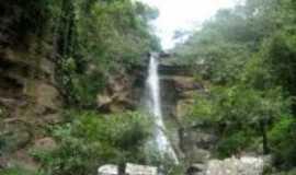 Nossa Senhora de Lourdes - Cachoeira tempor�ria - localizada no Pov. Barro vermelho, Por Miguel