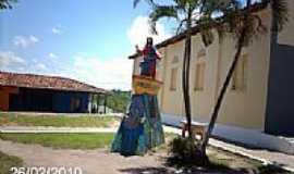 Nossa Senhora do Socorro - Imagem em homenagem à Bom Jesus dos Navegantes em Nossa Senhora do Socorro-SE-Foto:Sergio Falcetti