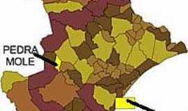 Pedra Mole - Mapa de Localiza��o - Pedra Mole-SE