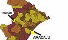 Pinhão - Mapa de Localização - Pinhão-SE