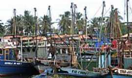 Pirambu - Barcos atracados em Pirambu-SE-Foto:marcos brava