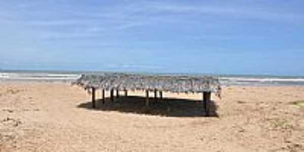 Quiosque na praia de Pirambu-SE-Foto:praias-360.com