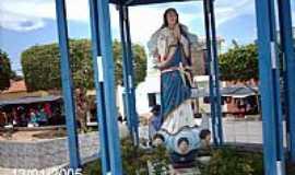 Poço Redondo - Poço Redondo-SE-Imagem em homenagem à N.Sra.da conceição na praça central-Foto:Sergio Falcetti