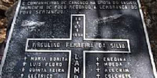 Placa de comemora��o de 100 anos da morte de Lampi�o-Foto:RICARDO SABADIA