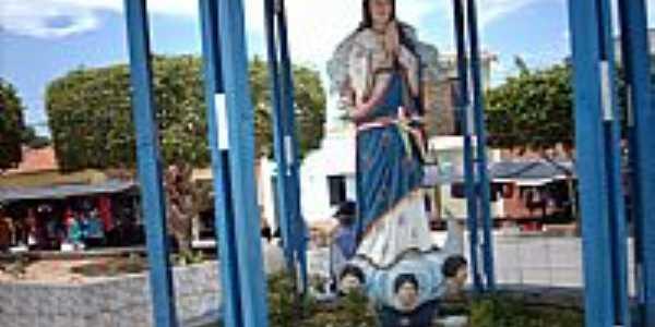Poço Redondo-SE-Imagem em homenagem à N.Sra.da conceição na praça central-Foto:Sergio Falcetti