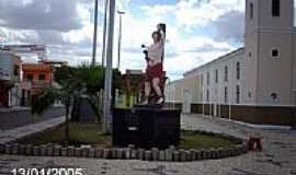 Po�o Verde - Imagem em homenagem � S�o Sebasti�o em Po�o Verde-SE-Foto:Sergio Falcetti