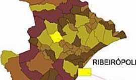 Ribeirópolis - Mapa
