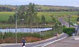 Santa Rosa de Lima - Lago na entrada da cidade-Foto:Luciano Otávio