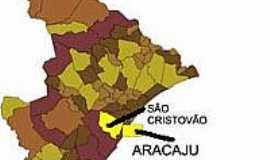 São Cristóvão - Mapa de Localização - São Cristovão-SE
