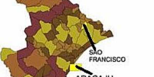 Mapa de Localização - São Francisco-SE
