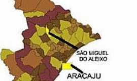 São Miguel do Aleixo - Mapa de Localização - São Miguel do Aleixo-SE
