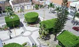 Simão Dias - Praça vista aérea-Foto:Leonardo Souza,