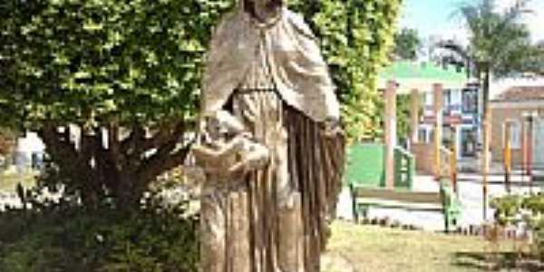 Simão Dias-SE-Estátua na Praça Barão de Santa Rosa-Foto:Sergio Falcetti