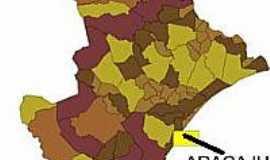 Tomar do Geru - Mapa de Localização - Tomar do Geru-SE