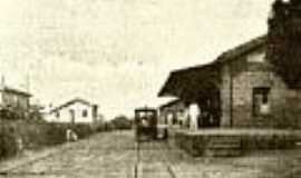 Água Vermelha - A estação em 1918 em Água Vermelha-Foto:Filemon Peres