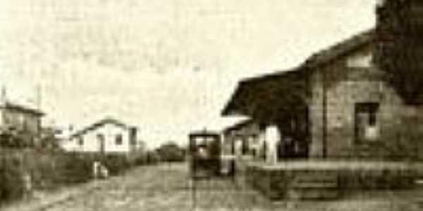 A esta��o em 1918 em �gua Vermelha-Foto:Filemon Peres