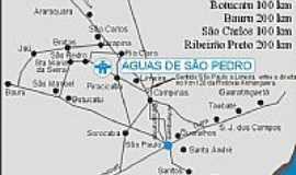 Águas de São Pedro - Mapa