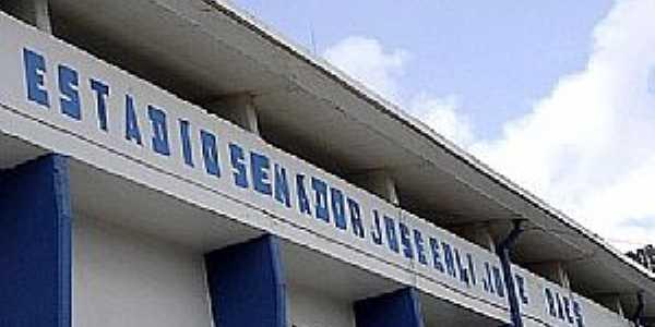 Alumínio-SP-Fachada do Estádio de Futebol-Foto:jogosperdidos