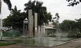 Amparo - Fonte na Pra�a P�dua Salles em Amparo-Foto:Roberta Soriano