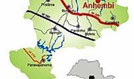 Anhembi - Mapa de localização
