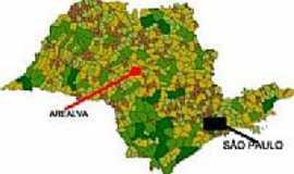 Arealva - Mapa de Localização - Arealva-SP