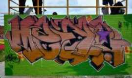 Artur Nogueira - Grafite na Pista de Skate da cidade. (Artur Nogueira - SP), Por Fabr�cio Ferreira Pedroso