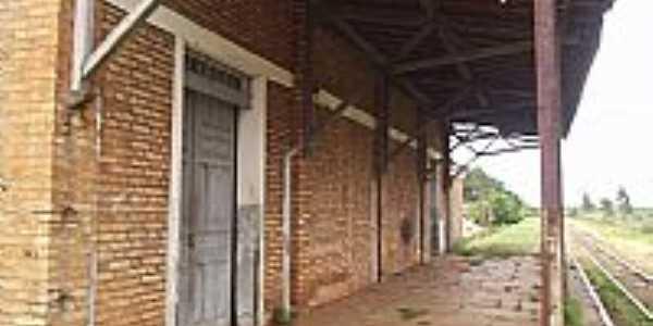 Plataforma da Estação Ferroviária de Avaí-Foto:trembauru