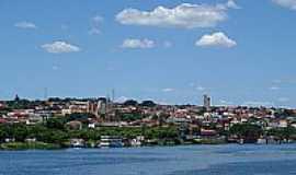 Barra Bonita - Barra Bonita-SP-A cidade vista do Tiet�-Foto:John Lima