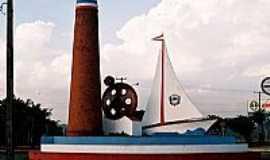Barra Bonita - Barra Bonita-SP-Monumento na entrada da cidade-Foto:Zekinha