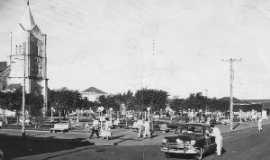 Bilac - Praça da Matriz década 50, Por Eugênio leandro Moimás de Brito
