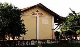 Bueno de Andrada - Vista lateral da antiga Estação Ferroviária em Bueno de Andrada-SP-Foto:Zekinha