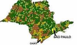 Cajati - Mapa de Localiza��o - Cajati-SP