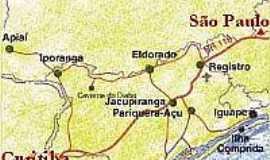 Cananéia - Mapa