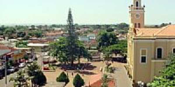 Vista do centro de Cândido Mota-SP-Foto:Marcos Galdeano