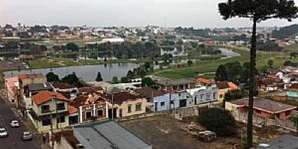 Capão Bonito-SP-Vista parcial da cidade e o Rio Paranapanema-Foto:LUIZA VALIO