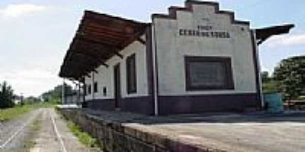 Estação Ferroviária de Cezar de Souza-Foto:Jose Carlos Quiletti
