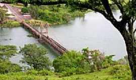 Chavantes - Vista da Ponte P�nsil Alves de Lima em Chavantes-SP-Foto:Erico Christmann
