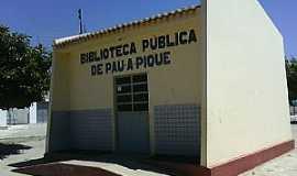 Pau a Pique - Pau à Pique-BA-Biblioteca Pública-Foto:Adalberto Eletricista