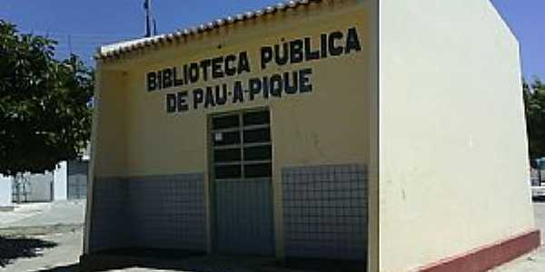 Pau à Pique-BA-Biblioteca Pública-Foto:Adalberto Eletricista
