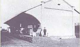 Corredeira - Estação ferroviária na época da inauguração 1912