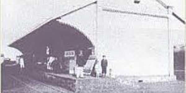 Estação ferroviária na época da inauguração 1912