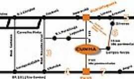 Cunha - Mapa de Localização
