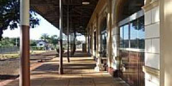 Estação Ferroviária de Descalvado-Foto:Detog