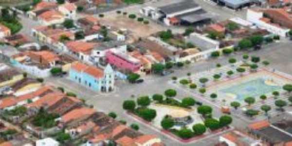 vista aéria da cidade de Pé de Serra, Por Carla Anjos
