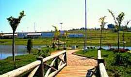 Duartina - Duartina-SP-Passarelas no Lago do Eco-Parque Ciro Simão-Foto:Luciano Rizzieri