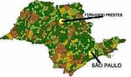 Fernando Prestes - Mapa de Localização - Fernando Prestes-SP