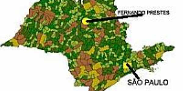 Mapa de Localização - Fernando Prestes-SP