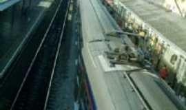 Franco da Rocha - Trem parado na estação, Por Antonio Cícero da Silva(Águia)